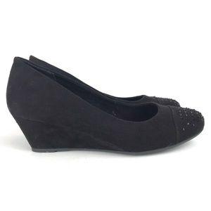 Seychelles Memory Foam Wedge Cap Toe Shoes